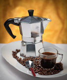 Traditional italian coffee maker Royalty Free Stock Photos
