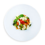 Traditional italian colored pasta with vegetables Stock Image