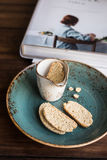 Traditional italian cookies biscotti or cantucci Royalty Free Stock Photos