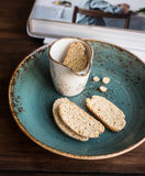 Traditional italian cookies biscotti or cantucci Royalty Free Stock Images