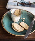 Traditional italian cookies biscotti or cantucci Royalty Free Stock Photography