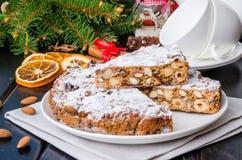 Traditional Italian dessert Panforte for Christmas. royalty free stock photos