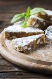 Traditional italian dessert panforte Stock Photo
