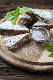 Traditional italian dessert panforte Royalty Free Stock Photography