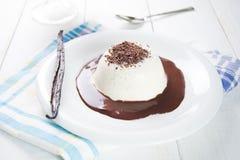 Traditional Italian dessert panna cotta Stock Photos