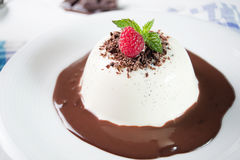 Traditional Italian dessert panna cotta Royalty Free Stock Image
