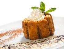 Traditional Italian dessert tiramisu Stock Photos