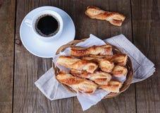 Traditional Italian dessert on wooden background Stock Photo