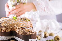 Free Traditional Italian Desserts For Easter - Easter Dove Royalty Free Stock Image - 213746286