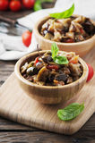 Traditional italian dish with eggplant and tomato Royalty Free Stock Image