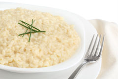 Traditional italian dish - risotto- isolated Stock Images