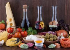 Traditional Italian food Royalty Free Stock Images