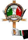 Traditional Italian Food Sign Royalty Free Stock Images