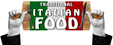 Traditional Italian Food Sign Royalty Free Stock Photography