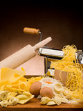 Traditional italian homemade pasta Stock Photos