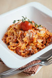 Traditional italian homemade pasta with bolognese sauce Royalty Free Stock Images