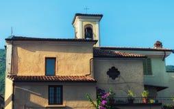 Traditional italian house on the street Royalty Free Stock Photo