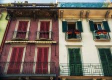 Traditional italian house on the street Stock Photo