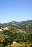 Traditional italian landscape. In summer time near Assisi Stock Photo