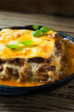 Traditional Italian lasagna cooked in a frying pan Royalty Free Stock Photo