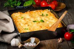 Traditional italian lasagna Stock Photo