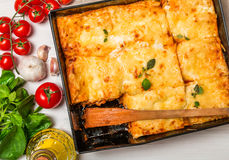 Traditional italian lasagna Royalty Free Stock Photos