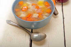 Traditional Italian minestrone soup Royalty Free Stock Photography