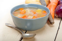 Traditional Italian minestrone soup Stock Photography