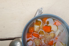 Traditional Italian minestrone soup Stock Images