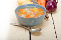 Traditional Italian minestrone soup Royalty Free Stock Photos