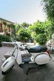Typical Italian motorcycle in Taormina, Sicily, Italy royalty free stock image