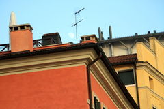 Traditional Italian old houses Stock Photography