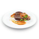 Traditional italian osso buco meat. Royalty Free Stock Images