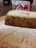Traditional Italian Panettone bread fruit cake royalty free stock photography