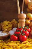 Traditional italian pasta Stock Images