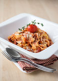Traditional italian pasta tagliatelle with bolognese sauce Royalty Free Stock Photos