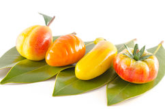 Traditional italian pastry fruit shaped Royalty Free Stock Photography
