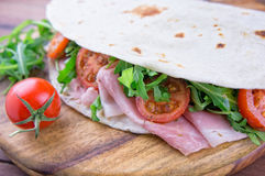 Traditional italian piadina Royalty Free Stock Photography