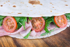 Traditional italian piadina Stock Image