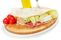 Traditional Italian piadina Stock Photo