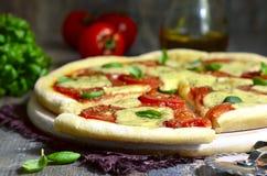 Traditional italian pizza 'Margherita'. Stock Image