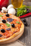 Traditional italian pizza margherita Stock Photo