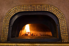 Traditional Italian pizza oven Royalty Free Stock Image