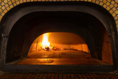 Traditional Italian pizza oven Stock Images