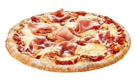 Traditional Italian pizza with prosciutto ham Royalty Free Stock Image