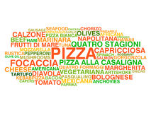 Traditional Italian pizza types Stock Images