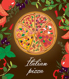 Traditional Italian pizza vector Stock Photos