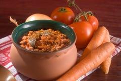 Traditional Italian Ragu. Traditional Ragu, italian recipe for a tomato sauce with meat Royalty Free Stock Photos