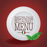 Traditional Italian Restaurant Menu Design Royalty Free Stock Images