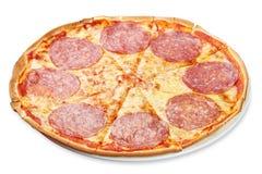 Free Traditional Italian Salami Pizza On The White Background Royalty Free Stock Photos - 179704258